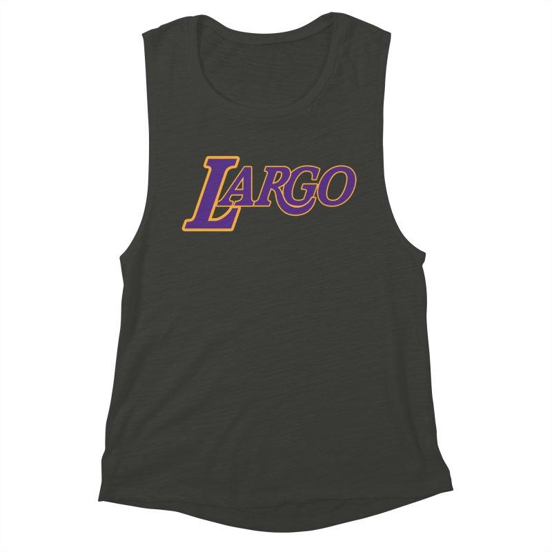 Laaaaargo Women's Muscle Tank by Mike Hampton's T-Shirt Shop