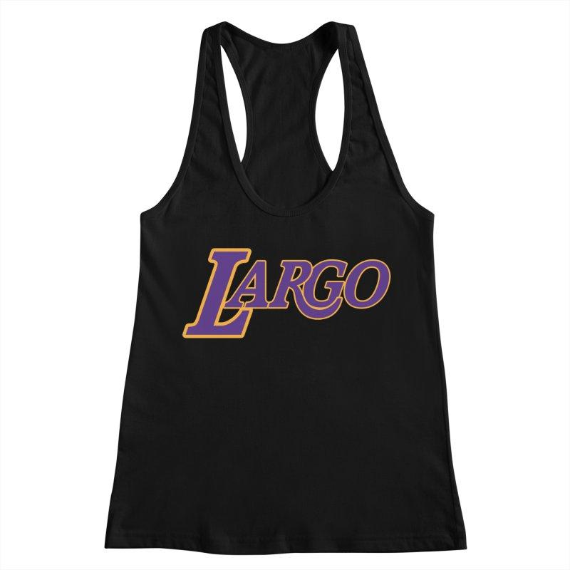 Laaaaargo Women's Racerback Tank by Mike Hampton's T-Shirt Shop