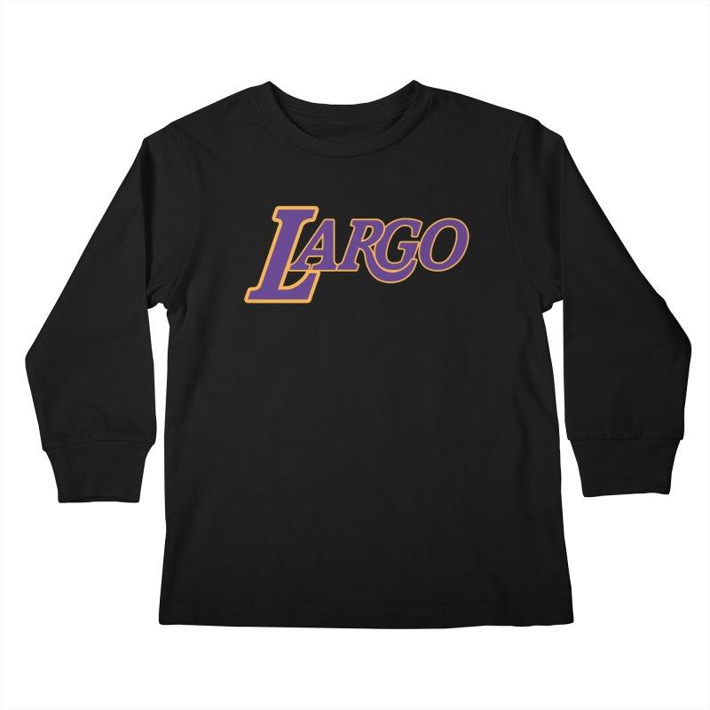 Laaaaargo Kids Longsleeve T-Shirt by Mike Hampton's T-Shirt Shop