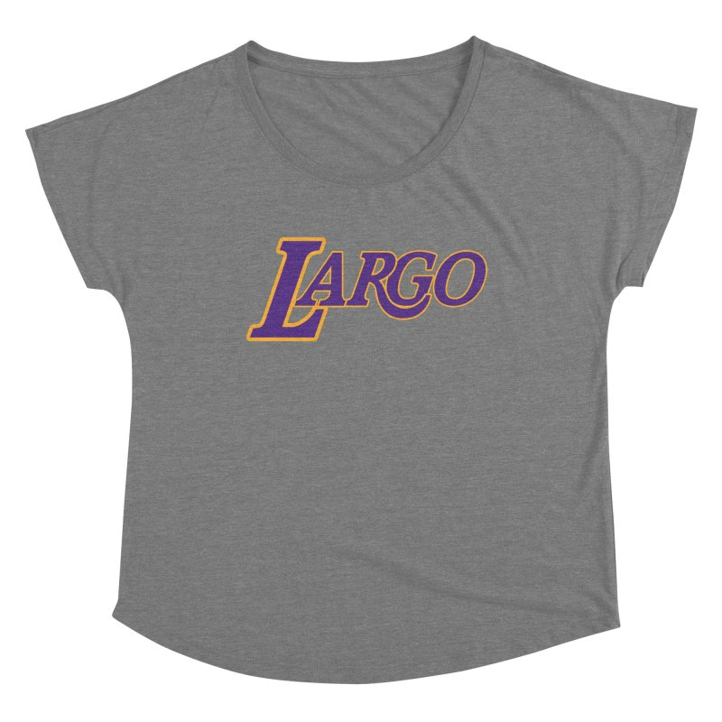 Laaaaargo Women's Scoop Neck by Mike Hampton's T-Shirt Shop