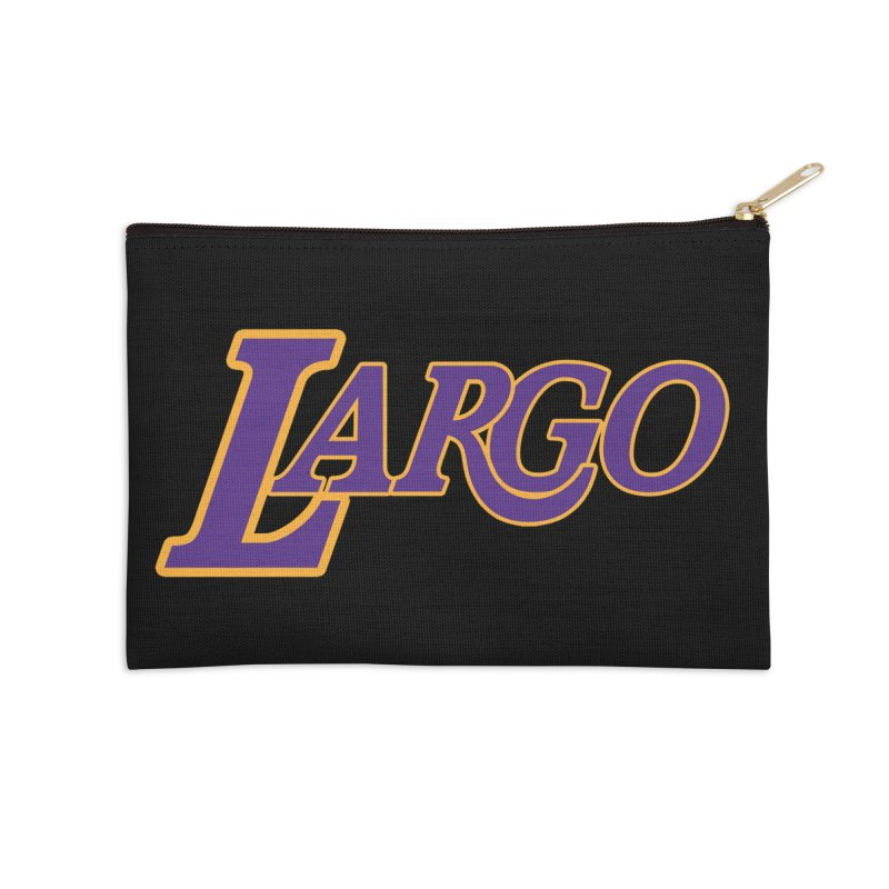 Laaaaargo Accessories Zip Pouch by Mike Hampton's T-Shirt Shop