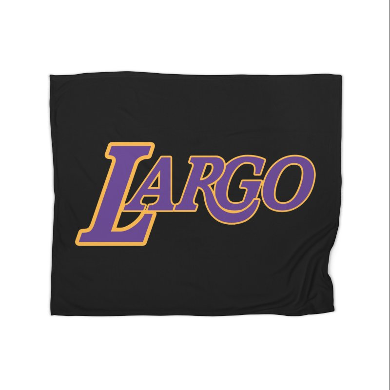 Laaaaargo Home Fleece Blanket Blanket by Mike Hampton's T-Shirt Shop