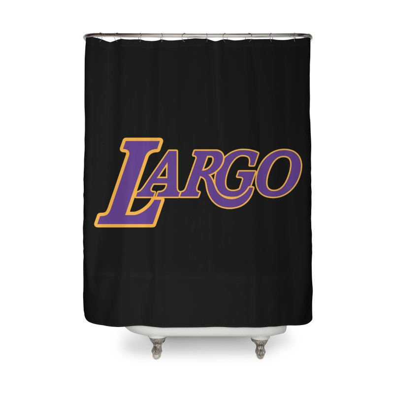 Laaaaargo Home Shower Curtain by Mike Hampton's T-Shirt Shop