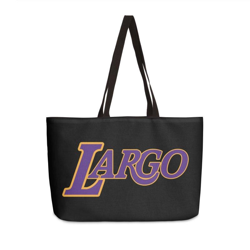 Laaaaargo Accessories Weekender Bag Bag by Mike Hampton's T-Shirt Shop