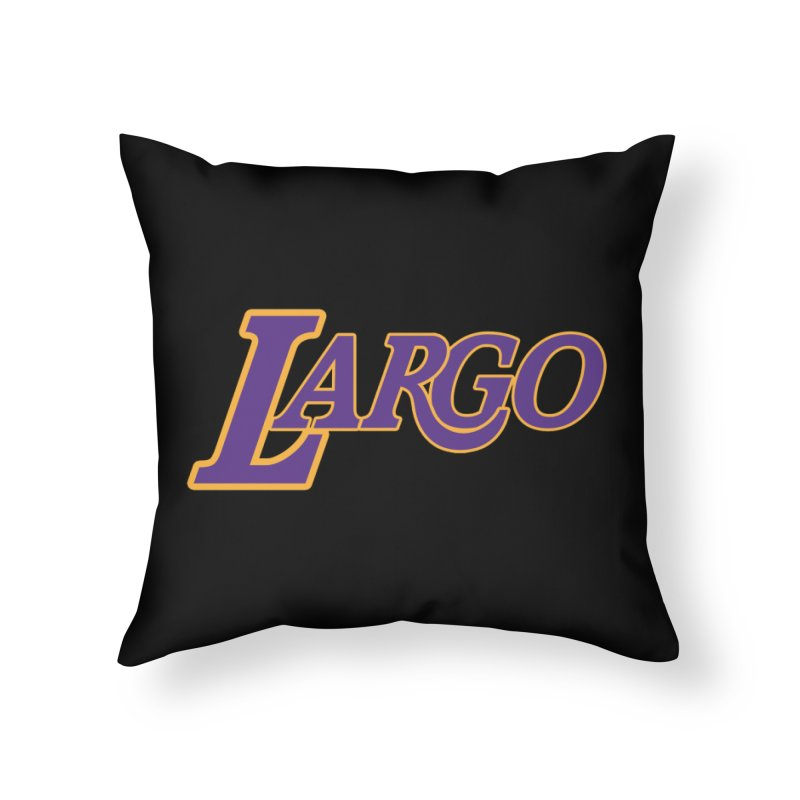 Laaaaargo Home Throw Pillow by Mike Hampton's T-Shirt Shop