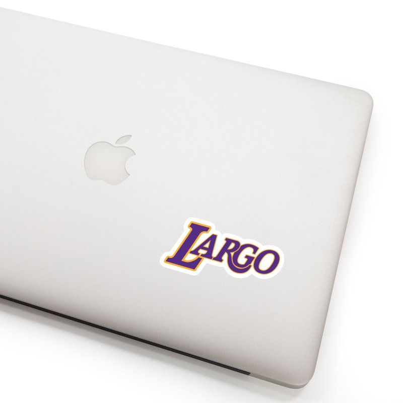 Laaaaargo Accessories Sticker by Mike Hampton's T-Shirt Shop