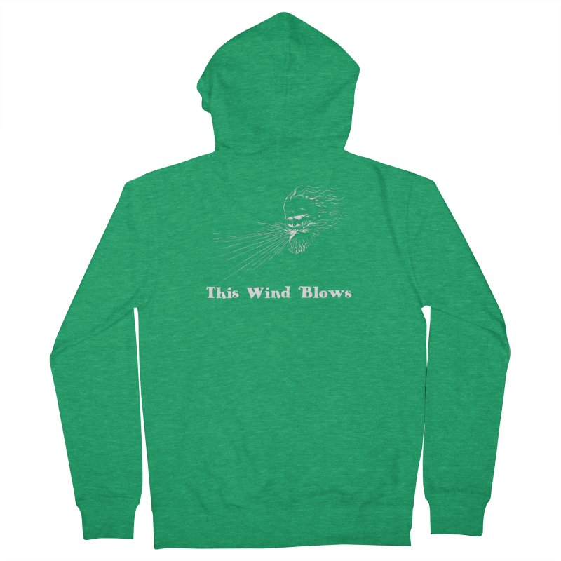 This Wind Blows Men's Zip-Up Hoody by Mike Hampton's T-Shirt Shop
