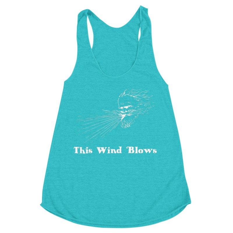This Wind Blows Women's Racerback Triblend Tank by Mike Hampton's T-Shirt Shop