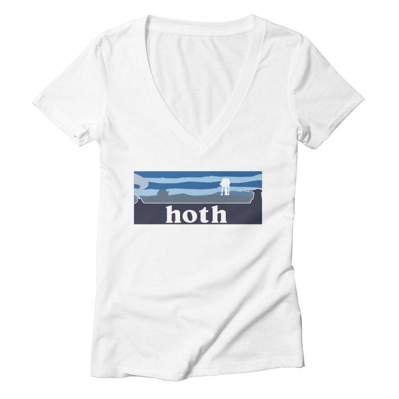 Parody Design #3 Women's Deep V-Neck V-Neck by Mike Hampton's T-Shirt Shop