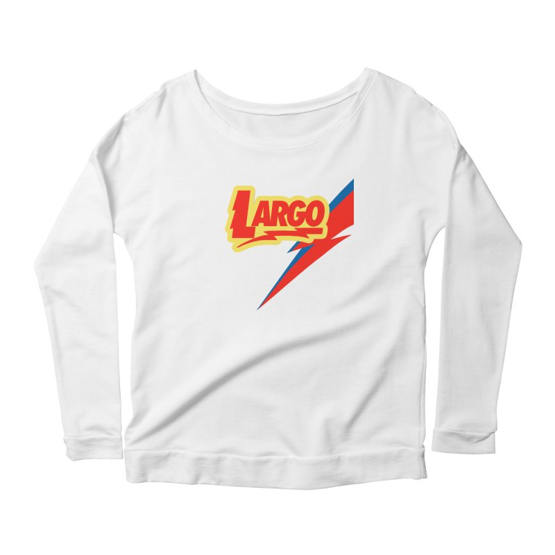 Largo Largo Women's Scoop Neck Longsleeve T-Shirt by Mike Hampton's T-Shirt Shop
