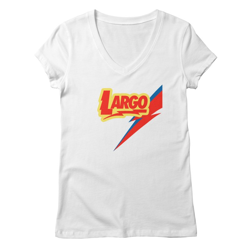 Largo Largo Women's Regular V-Neck by Mike Hampton's T-Shirt Shop