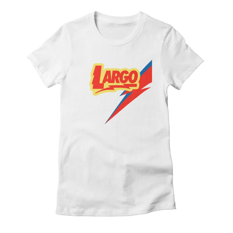 Largo Largo Women's Fitted T-Shirt by Mike Hampton's T-Shirt Shop