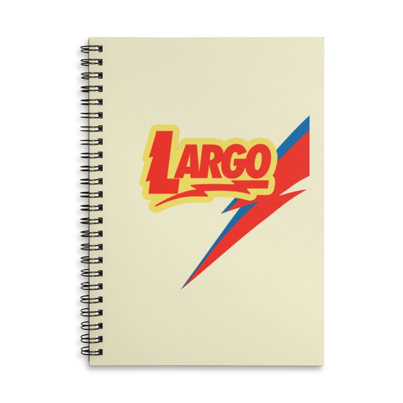 Largo Largo Accessories Lined Spiral Notebook by Mike Hampton's T-Shirt Shop