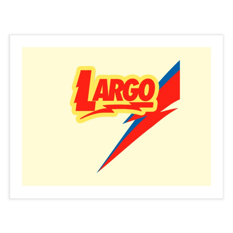Largo Largo Home Fine Art Print by Mike Hampton's T-Shirt Shop