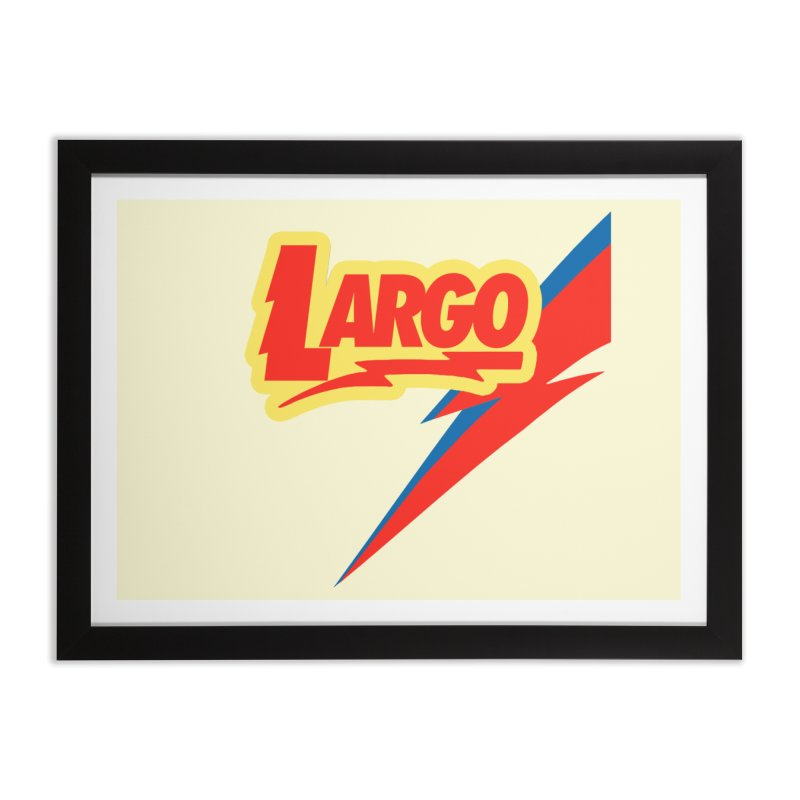 Largo Largo Home Framed Fine Art Print by Mike Hampton's T-Shirt Shop