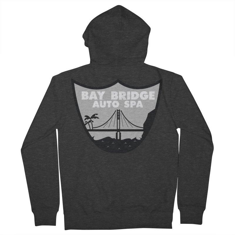 Bay Bridge Auto Spa Women's French Terry Zip-Up Hoody by Mike Hampton's T-Shirt Shop