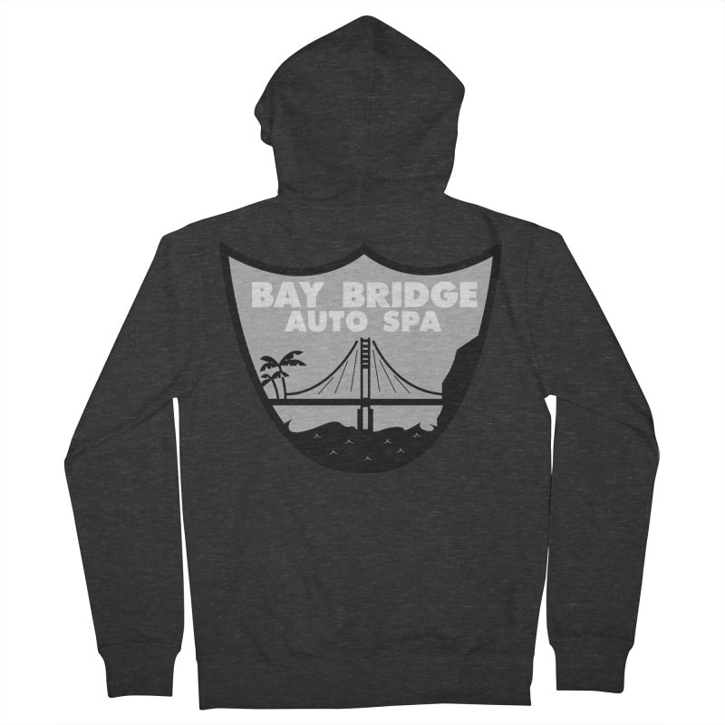 Bay Bridge Auto Spa Men's French Terry Zip-Up Hoody by Mike Hampton's T-Shirt Shop