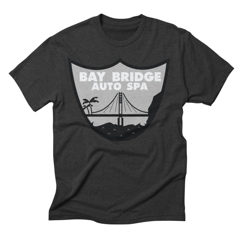 Bay Bridge Auto Spa Men's Triblend T-Shirt by Mike Hampton's T-Shirt Shop