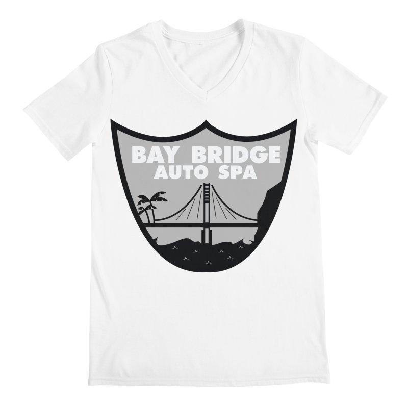 Bay Bridge Auto Spa Men's V-Neck by Mike Hampton's T-Shirt Shop