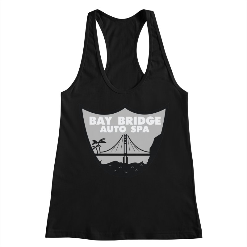 Bay Bridge Auto Spa Women's Racerback Tank by Mike Hampton's T-Shirt Shop