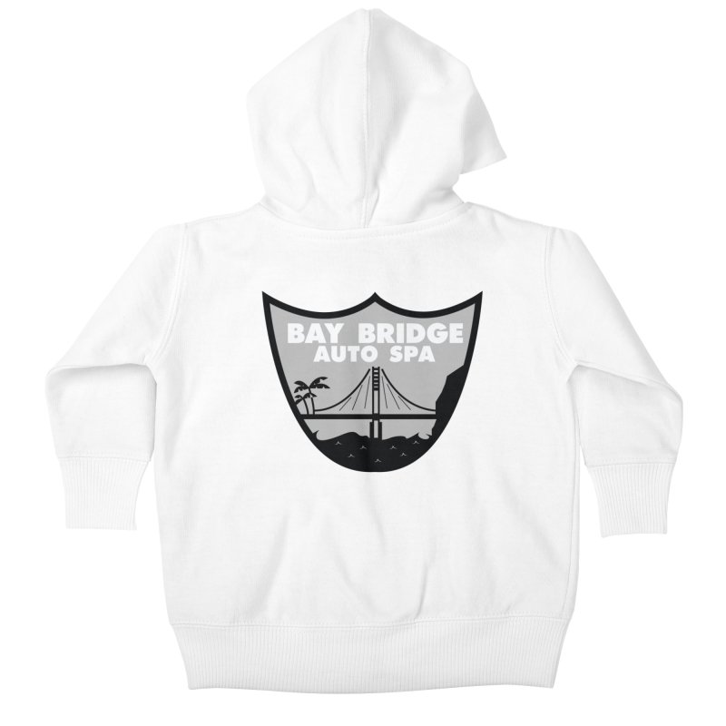 Bay Bridge Auto Spa Kids Baby Zip-Up Hoody by Mike Hampton's T-Shirt Shop