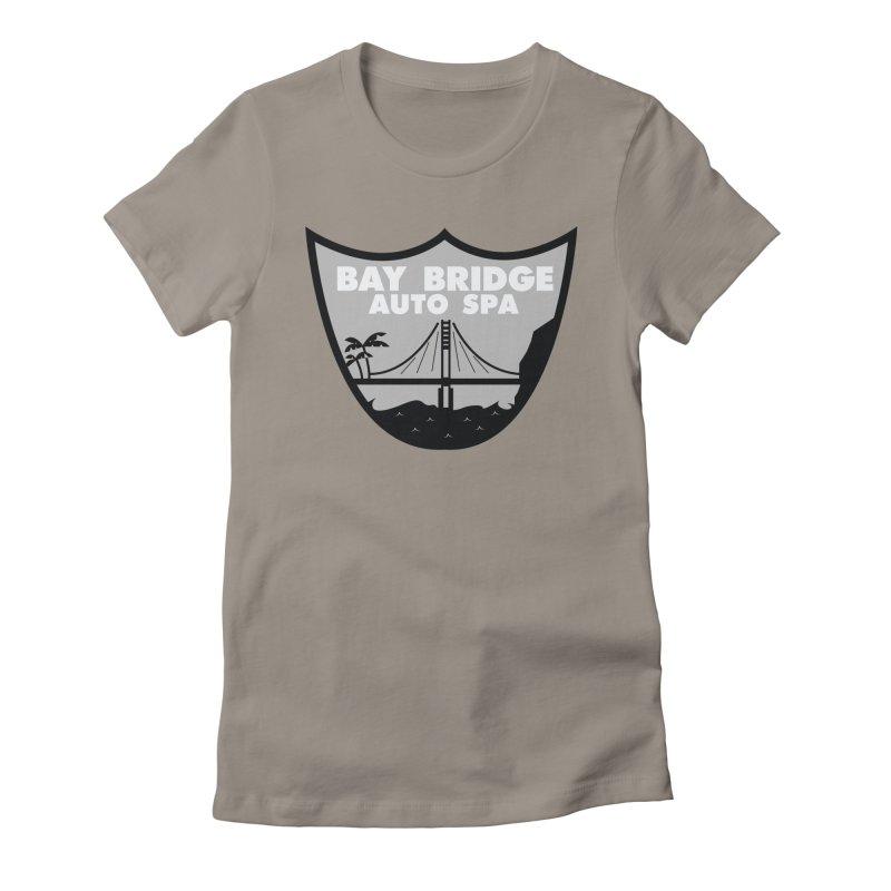 Bay Bridge Auto Spa Women's Fitted T-Shirt by Mike Hampton's T-Shirt Shop