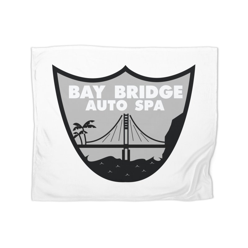 Bay Bridge Auto Spa Home Fleece Blanket Blanket by Mike Hampton's T-Shirt Shop