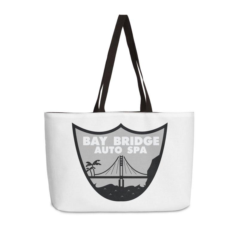 Bay Bridge Auto Spa Accessories Weekender Bag Bag by Mike Hampton's T-Shirt Shop