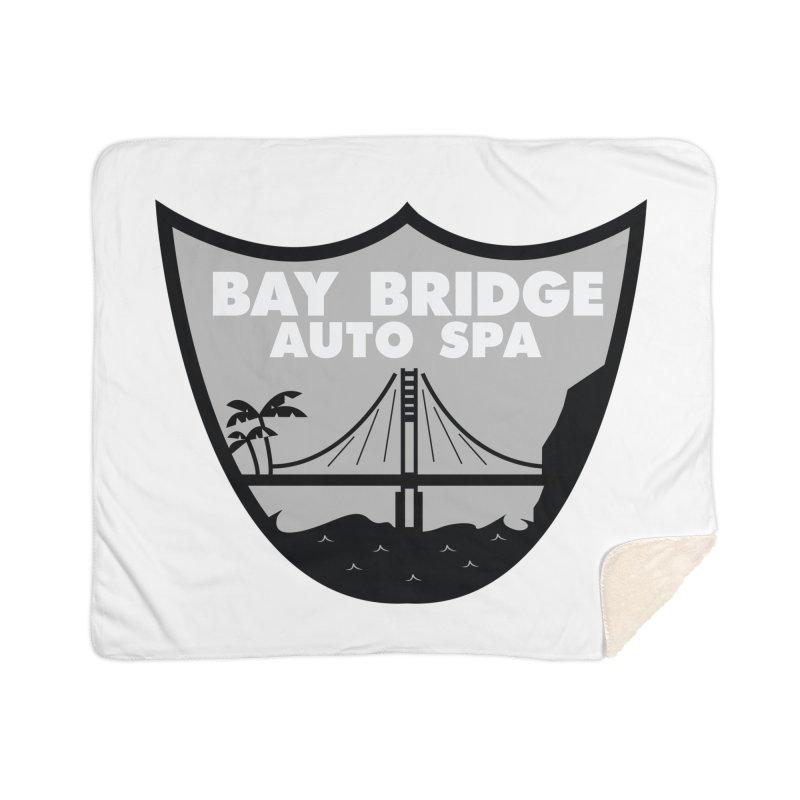Bay Bridge Auto Spa Home Sherpa Blanket Blanket by Mike Hampton's T-Shirt Shop