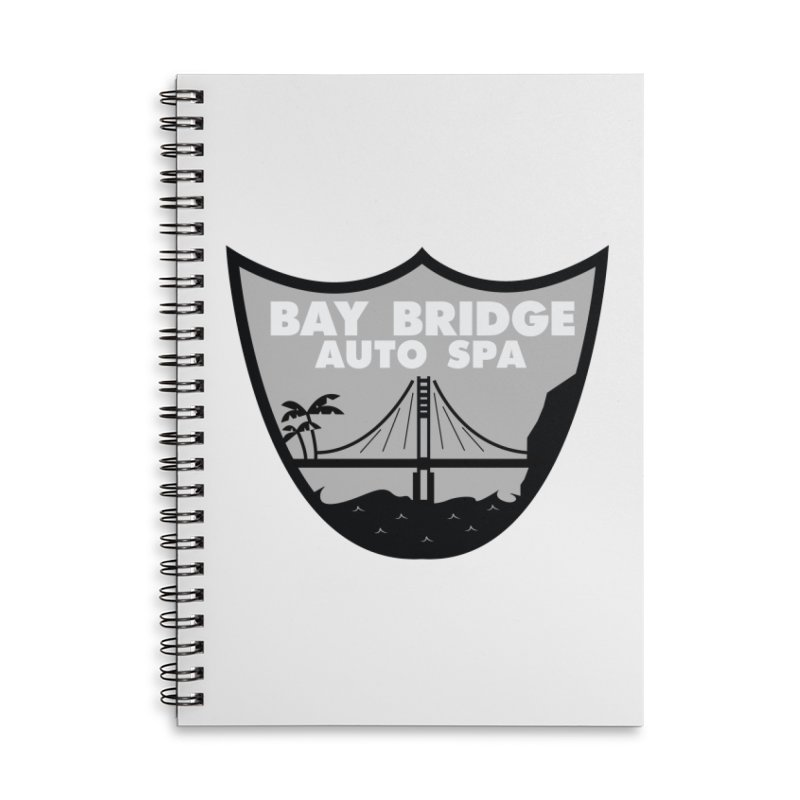 Bay Bridge Auto Spa Accessories Lined Spiral Notebook by Mike Hampton's T-Shirt Shop
