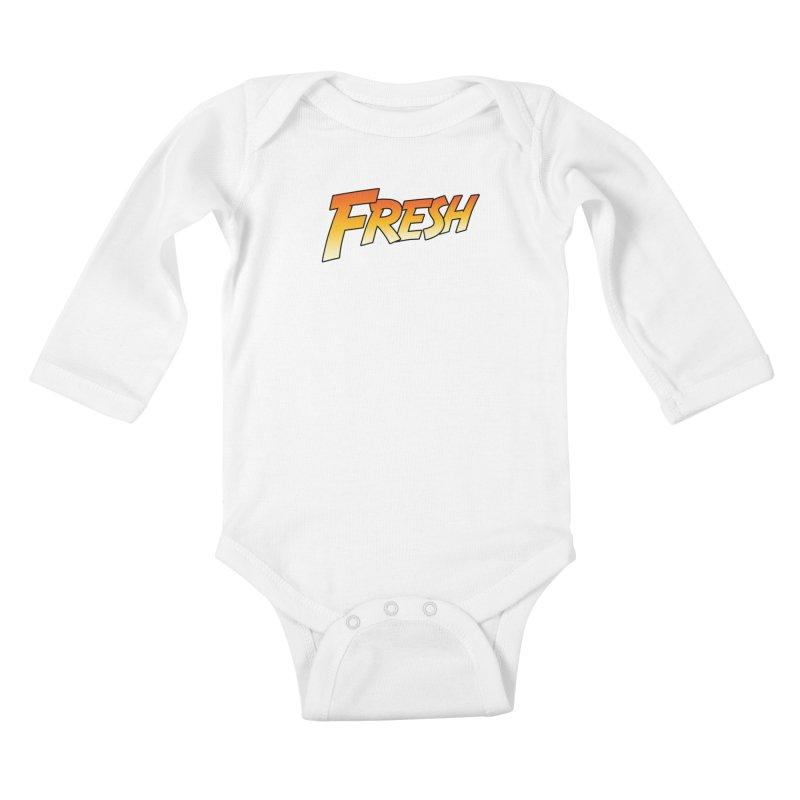 FRESH! Kids Baby Longsleeve Bodysuit by Mike Hampton's T-Shirt Shop