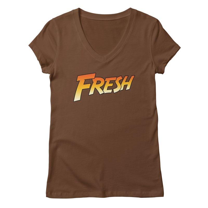 FRESH! Women's Regular V-Neck by Mike Hampton's T-Shirt Shop
