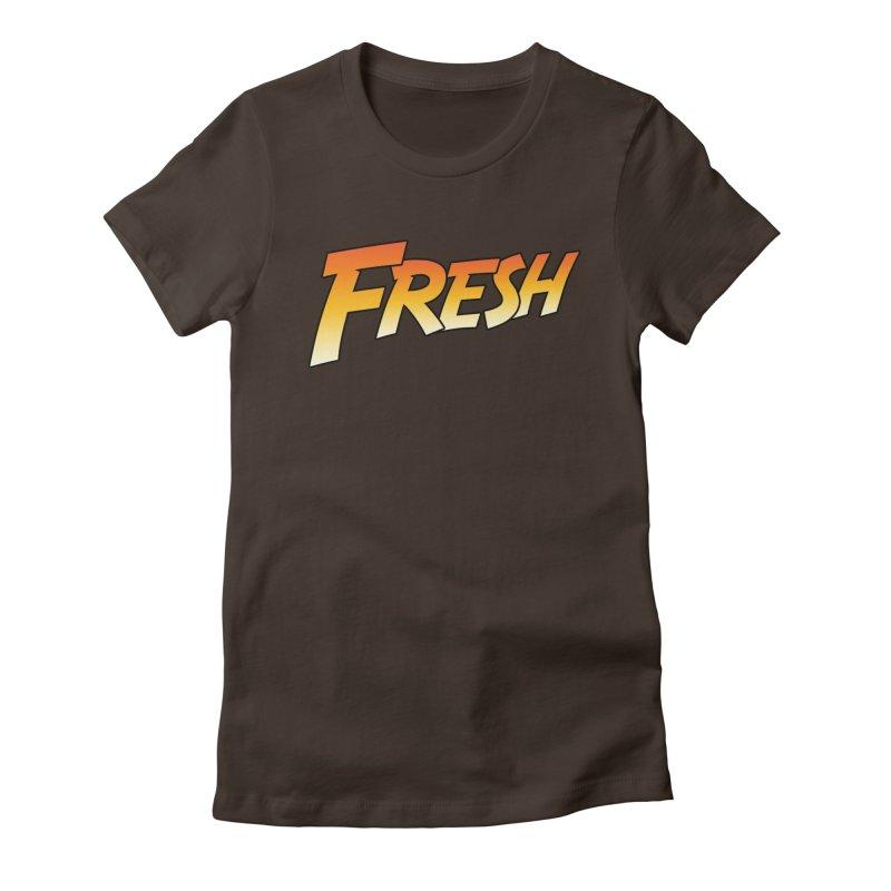 FRESH! Women's Fitted T-Shirt by Mike Hampton's T-Shirt Shop