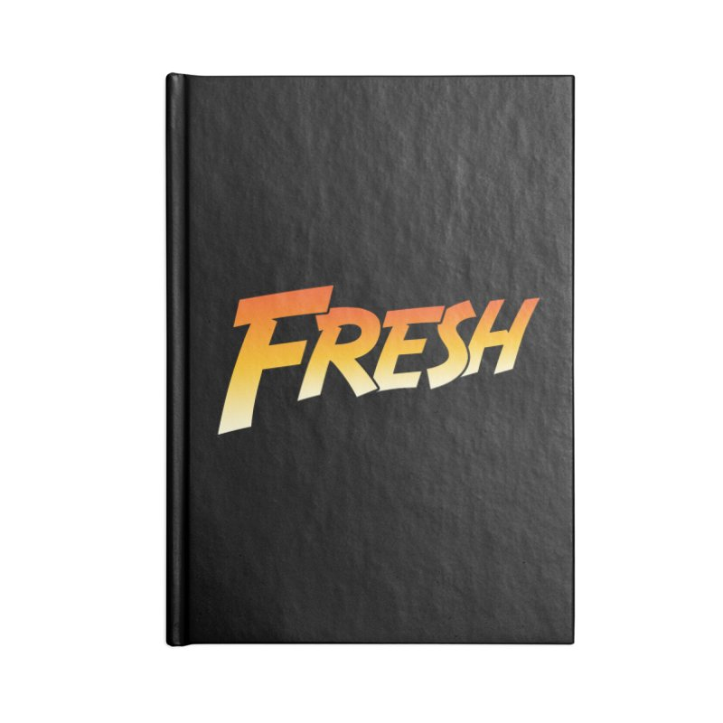 FRESH! Accessories Lined Journal Notebook by Mike Hampton's T-Shirt Shop