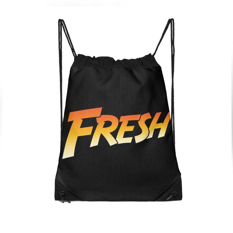 FRESH! Accessories Drawstring Bag Bag by Mike Hampton's T-Shirt Shop