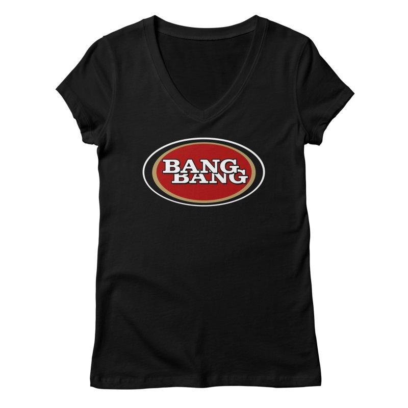 Niner Gang Women's Regular V-Neck by Mike Hampton's T-Shirt Shop