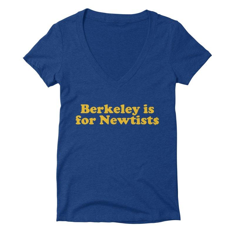 Watch for Newts Women's Deep V-Neck V-Neck by Mike Hampton's T-Shirt Shop