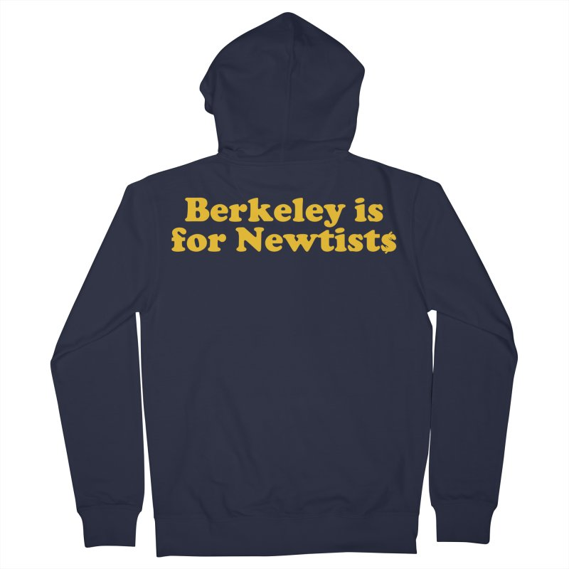 Watch for Newts Men's French Terry Zip-Up Hoody by Mike Hampton's T-Shirt Shop