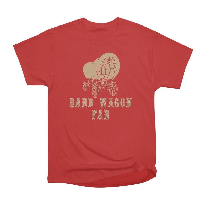 Band Wagon Fan Men's Heavyweight T-Shirt by Mike Hampton's T-Shirt Shop