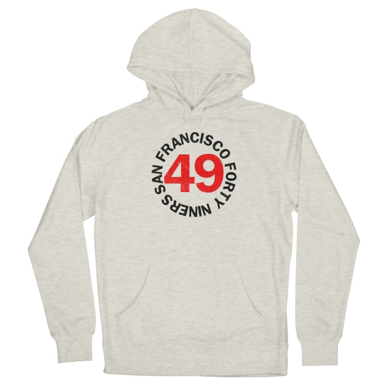 Red Hot Forty Niners Men's French Terry Pullover Hoody by Mike Hampton's T-Shirt Shop