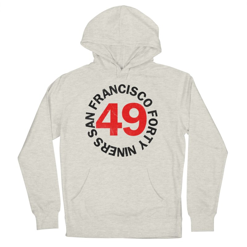 Red Hot Forty Niners Women's French Terry Pullover Hoody by Mike Hampton's T-Shirt Shop