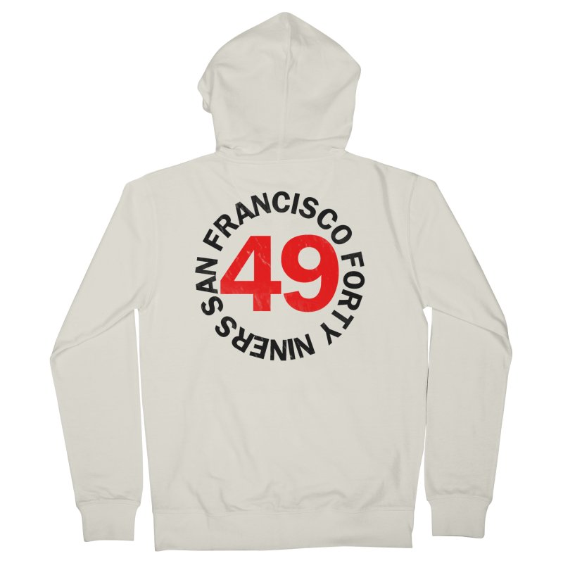 Red Hot Forty Niners Men's French Terry Zip-Up Hoody by Mike Hampton's T-Shirt Shop