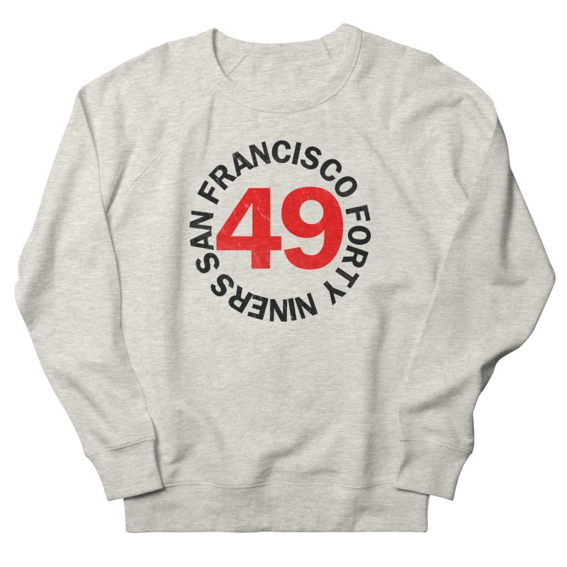 Red Hot Forty Niners Men's French Terry Sweatshirt by Mike Hampton's T-Shirt Shop