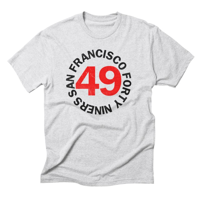Red Hot Forty Niners Men's Triblend T-Shirt by Mike Hampton's T-Shirt Shop
