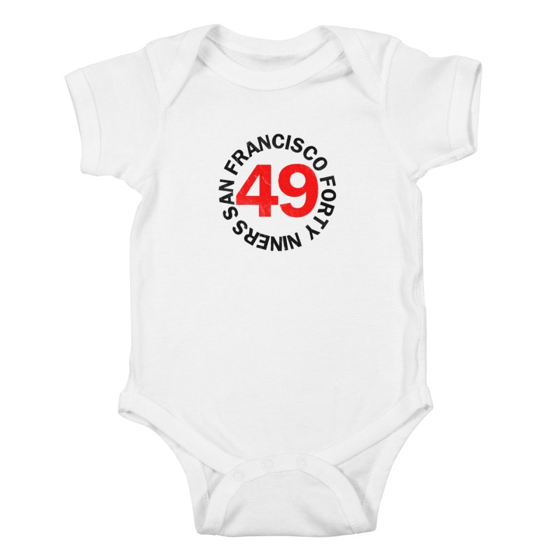 Red Hot Forty Niners Kids Baby Bodysuit by Mike Hampton's T-Shirt Shop