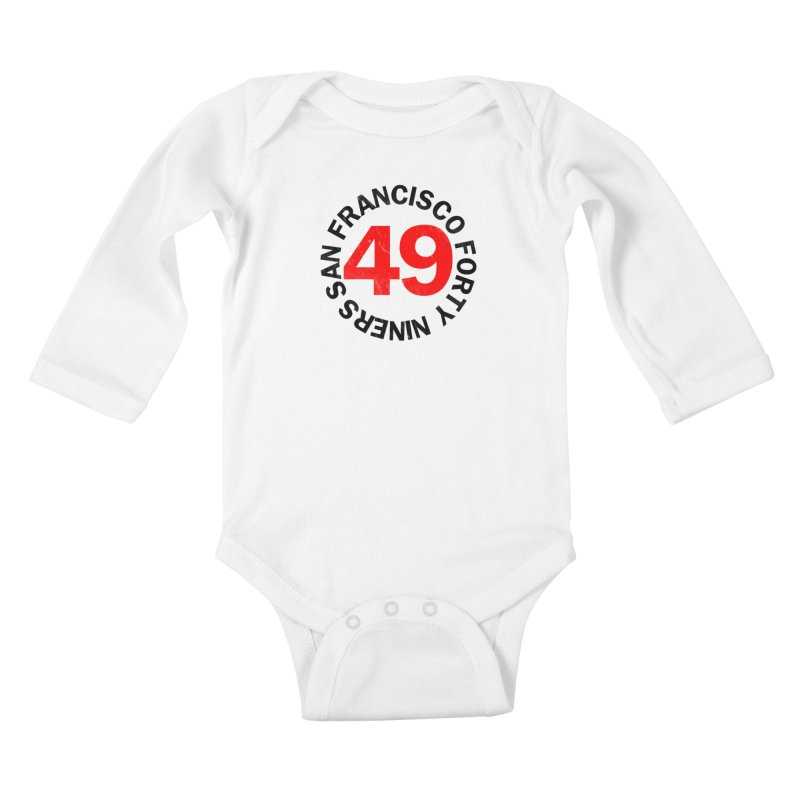 Red Hot Forty Niners Kids Baby Longsleeve Bodysuit by Mike Hampton's T-Shirt Shop