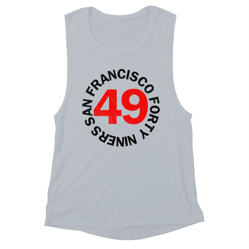 Red Hot Forty Niners Women's Muscle Tank by Mike Hampton's T-Shirt Shop