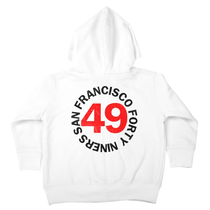 Red Hot Forty Niners Kids Toddler Zip-Up Hoody by Mike Hampton's T-Shirt Shop