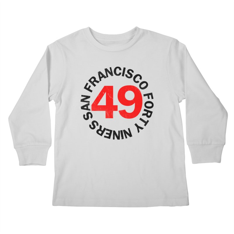 Red Hot Forty Niners Kids Longsleeve T-Shirt by Mike Hampton's T-Shirt Shop