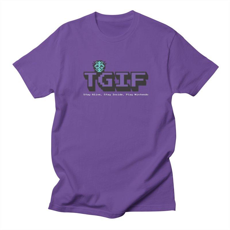 TGIF-Stay Inside, Stay Alive Men's Regular T-Shirt by Mike Hampton's T-Shirt Shop
